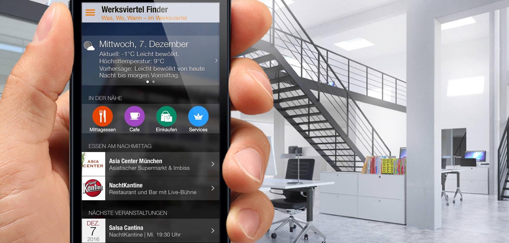 Werksviertel Finder Werksviertel App